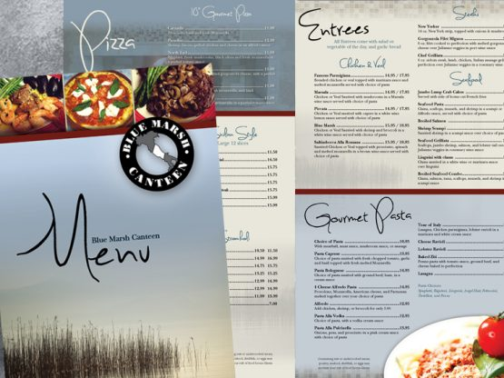 Blue Marsh Canteen Menu
