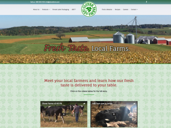 Clover Farms Website