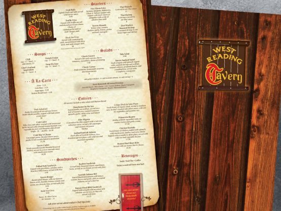 West Reading Tavern Menus