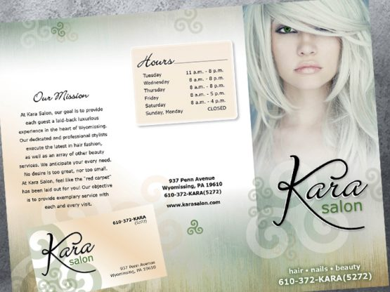 Kara Salon Logo & Collaterals