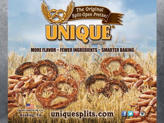 Unique Pretzel Bakery Banner